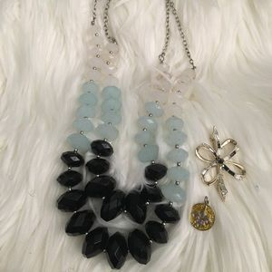 Double statement necklace